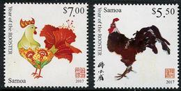 SAMOA 2016 - Nouvel An Chinois, 2017 Année Du Coq - 2 Val Neufs // Mnh - Samoa
