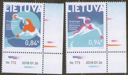 2018 Lithuania SPORT XXIII Winter Olympic Games  In Pyeongchang  Mi 1269-1270 2v-corners MNH ** - Winter 2018: Pyeongchang