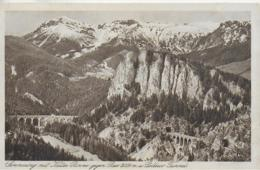 AK 0120  Semmering Mit Kalter Rinne Gegen Rax Und Polleros-Tunnel - Verlag Ledermann Um 1924 - Semmering