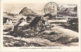 France Carte Affranchie Mont Gerbier De Jonc - France