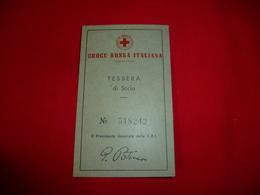 Tessera Socio Croce Rossa Italiana C.R.I. 1967-68 - Croce Rossa