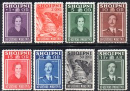XP4058 - ALBANIA  1938 , Yvert Serie N. 249/256  ***  Anniversario Reale - Albania