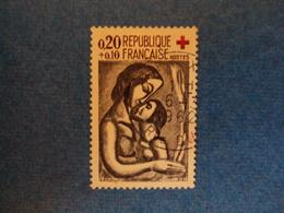 """1961-  Timbre Oblitéré   N°1323    """"CROIX ROUGE , Si Doux D'aimer,Rouault     """"cote   2.75    Net 0.90 - France"""