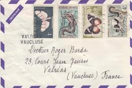 LETTRE. COVER. PUBLICITY PHARMACY. STOP-DOULEUR NUBALGYL. MADAGASCAR TANANARIVE TO VALREAS VAUCLUSE FRANCE/  2 - Briefmarken