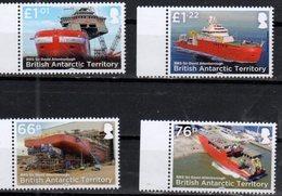 BRISTISH ANTARCTIC TERRITORY, BAT,  2018, MNH, SHIPS, SIR DAVID ATTENBOROUGH, 4v - Ships