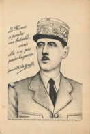 Militaria - Guerre 39/45 - Portrait Du General De Gaulle Par Dugenest - FFI - Rare Vers 1945 - War 1939-45