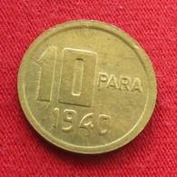 Turkey 10 Para 1940 KM# 868  Turquia Turquie Turchia Turkije - Turquie
