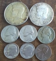 USA LOT COINS HALF DOLLAR 1964 1967 UNITED STATES OF AMERICA 10 5 1 CENTS - Federal Issues