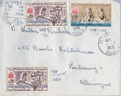 1965 , ARGELIA , SOBRE CIRCULADO A ALEMANIA , FRANQUEO UNESCO - Argelia (1962-...)