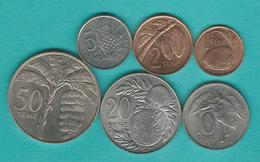 Samoa - Tunamafili II - 1 (1996), 2 (1996), 5 (2000), 10 (2000), 20 (2000) & 50 Sene (1974) (KMs 12-17) - Samoa