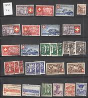 Lot Timbres Suisses 1939 - Oblitérés - Suisse