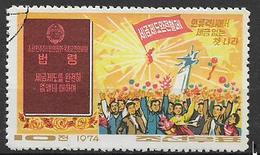 COREA DEL NORD 1974 SOPRESSIONE DELLE TASSE YVERT. 1183 USATO VF - Corea Del Nord