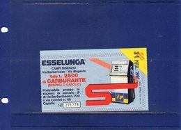 ##(DAN191)-Italia 1991-Buono Carburante L.2500 Rilasciato Da Esselunga Campi Bisenzio Utilizzabile IP Capalle - Automobili