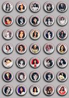 35 X Karen Carpenter Music Fan ART BADGE BUTTON PIN SET 1 (1inch/25mm Diameter) - Music