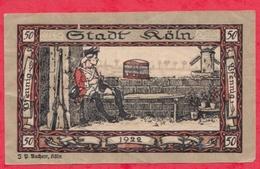 Allemagne 1 Notgeld De 50 Pfenning Stadt Köln Dans L 'état  N °2813 - [ 3] 1918-1933 : République De Weimar