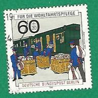 * 1990 N° 837 Histoire Des Postes Train Postal Oblitéré - [5] Berlin