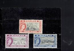 BAHAMAS 1954 - ELISABETH II   USED STAMPS (NOT FULL SERIE) SCOTT NR. 162 - 166 - 167  RE BAH ARCHFD 60119 - Bahamas (1973-...)