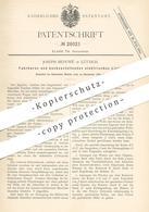 Original Patent - Joseph Beduwé , Lüttich , 1883 , Fahrbares U. Hochzustellendes Elektrisches Licht | Lichtmast , Lampe - Documents Historiques