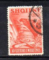 XP4061 - ALBANIA  1938 , Yvert  N. 252  Usato - Albania
