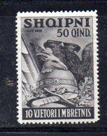 XP4062 - ALBANIA  1938 , Yvert  N. 255  * - Albania
