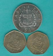 Samoa - Tunamafili II - 1 Tala - 1967 (KM7) 1984 (KM57) 2006 (KM135) - Samoa