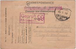 Correspondance 1918 / Censure Geprüft Limburg 99 / Soldat Annonçant Qu'il Est Prisonnier De Guerre (PG) à Son épouse - 1914-18