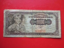 X1- 1000 Dinara 1963.Yugoslavia- Circulated. - Yugoslavia