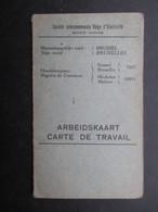 VP MILITARIA (M1902) CARTE DE TRAVAIL (5 Vues) Armée Belge Société Internationale Belge D'électricité 15/5/1941 THISSELT - 1939-45