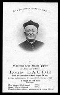 Faire Part De Décés De Mr L'Abbé Louis Laude Curé De Landrethun-le-Nord  Pas-de-Calais Du 9 /2/ 1929 à L'age De 59 Ans - Obituary Notices