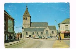 Eglise Sainte-Gertrude. Expédié à Bruxelles. Autos. - Tubize