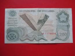 X1- 200 Dinara 1990.Yugoslavia- Circulated. - Yugoslavia