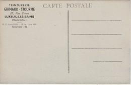 Carte Commerciale Offerte Par Teinturerie GRIMAUD STOURME / Luxeuil / CPA La Bassée 59 Nord - Cartes