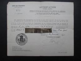 VP MILITARIA (M1902) Corps Des Transports 6e D. A. (2 Vues) Octroi Des Chevrons De Front Délivrée - 1921 Janvier - 1939-45