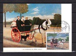 """"""" LA CARIOLE DU PERE JUNIET / CHEVAL """" Sur Carte Maximum De 1967. N° YT 1517 Parfait état. CM - Horses"""