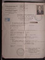 VP BELGIQUE (M1902) LAISSEZ-PASSER - DOORGANGSBEWIJS (2 VUES) 3/10/1946 Vers La France - Historical Documents