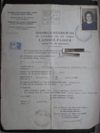 VP BELGIQUE (M1902) LAISSEZ-PASSER - DOORGANGSBEWIJS (2 VUES) 3/10/1946 Vers La France B - Historical Documents