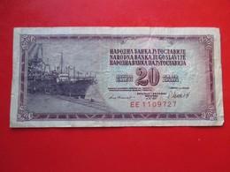 X1- 20 Dinara 1981.Yugoslavia- Circulated. - Yugoslavia