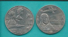 Samoa - Tunamafili II - 1 Tala - 1977 - Elizabeth II Silver Jubilee (KM24) Charles Lindburgh (KM26) - Samoa