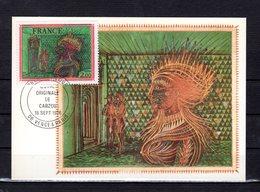 """"""" OEUVRE DE CARZOU """" Sur Carte Maximum De 1976. N° YT 1900 Parfait état. CM - Cartas Máxima"""