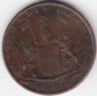 @Y@      East India Company 1/4 Anna 1830     (4591) - Indien