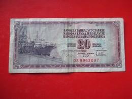 X1- 20 Dinara 1978.Yugoslavia- Circulated. - Yugoslavia