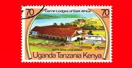 Uganda - Tanzania - Kenya - 1975 - Game Lodges Dell'Africa Orientale - Mweya - Uganda - 70 - Francobolli
