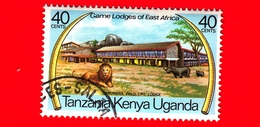 Uganda - Tanzania - Kenya - 1975 - Game Lodges Dell'Africa Orientale - Seronera - Tanzania, Lion (Panthera Leo) - 40 - Francobolli