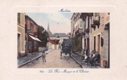 77 - Seine Et Marne - MARLOTTE - BOURRON - La Rue Murger Et Le Clocher - France