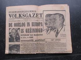 VP BELGIQUE (M1902) VOLKSGAZET (2 VUES) Dinsdag 08 Mei 1945 - Overwinningsnummer - Revues & Journaux