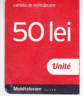 Moldova ,  Moldavie , Prepaid Phonecard - Unite , 50 Lei , 2018 , Paper , Used - Moldova