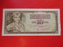X1- 10 Dinara 1968.Yugoslavia- Circulated. - Yugoslavia