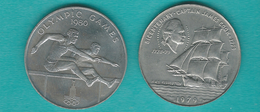Samoa - Tunamafili II - 1 Tala - 1979 - Captain Cook (KM32) 1980 - Olympic Hurdler (KM35) - Samoa
