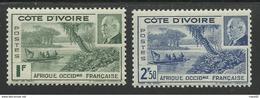 COTE D'IVOIRE 1941 YT 169/170** MNH - Côte-d'Ivoire (1892-1944)