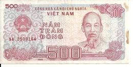 VIET NAM 500 DONG 1988 VF P 101 - Viêt-Nam